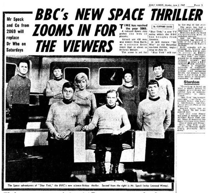 star trek newspaper story